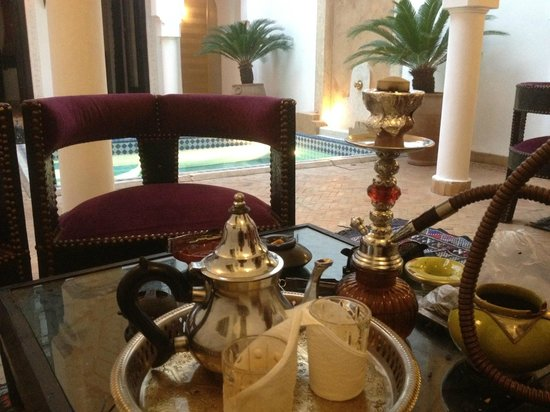 Tea and Shisha in Riad Baba Ali
