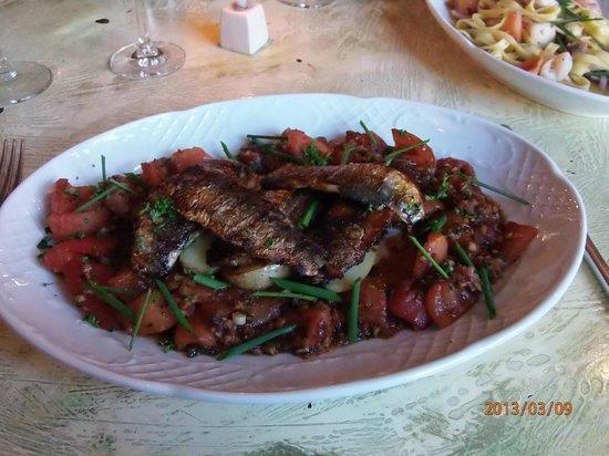 Saint Germain: Sardines met tomaat en look