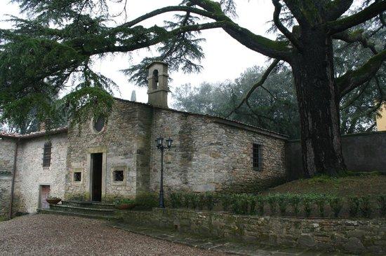 Villa Poggio Bartoli:                                     ...La Chiesetta della villa sotto l'albero secolare...