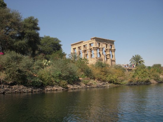 Philae Temple complex on Agilkia island, kiosk of Trajan