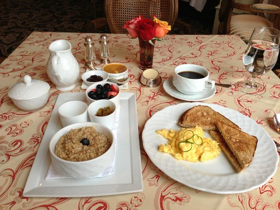 The Capital Hotel:                   Breakfast at Ashleigh's