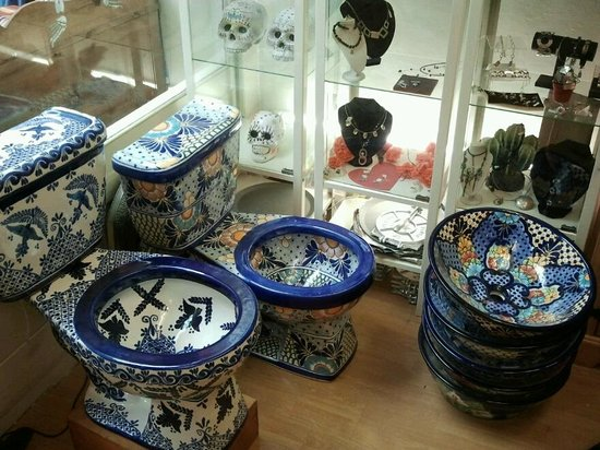 Otomi : Talavera hand-made Mexican toilets