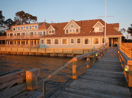 Inn at Corolla Light:                                     View of the Inn from the dock