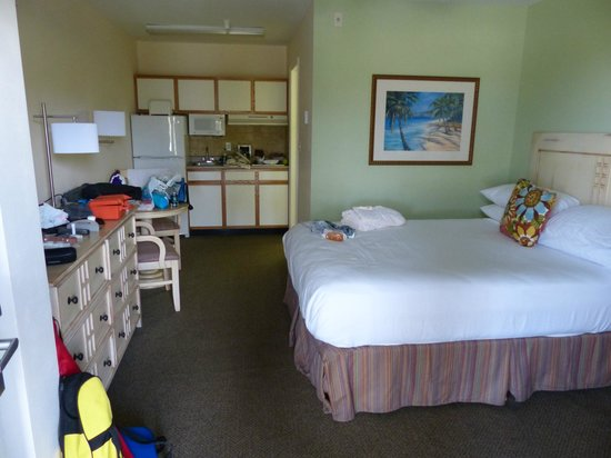 Sunshine Suites Resort:                   Our room - a little dishevelled