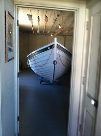 Indian River Life-Saving Station Museum at Delaware Seashore State Park:                   Boat used by the watermen during rescue