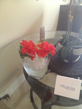 Villa del Mar:                   refreshments upon arrival