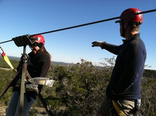 Wimberley Zipline Adventures:                   Tesia and Wild Bill