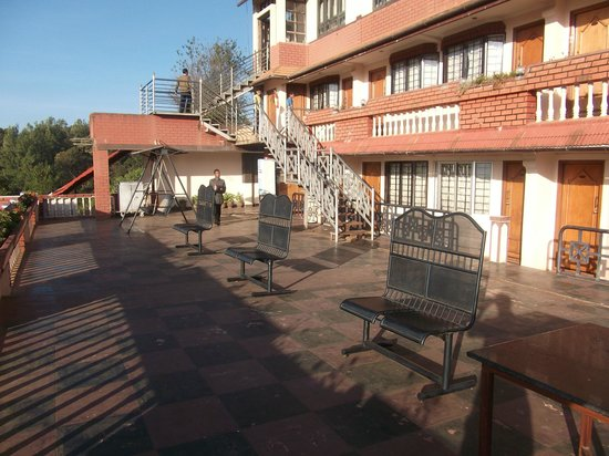 Hotel Darshan:                   Balcony