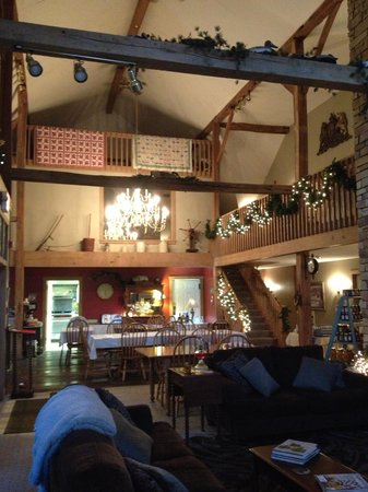 The Barn Inn Bed and Breakfast:                   Main Gathering Room / Lobby