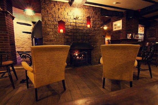 The Bell Inn: fire place