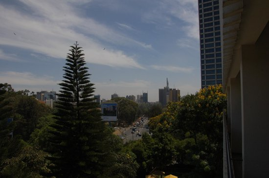 Sarova Panafric:                   view from our balcony