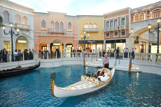 The Palazzo Resort Hotel On Wedding Gondola During Ceremony