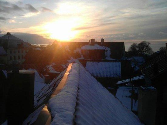 Hotel St. Clemens :                   Utsikt från lyxsviten.