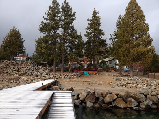 Red Wolf Lakeside Lodge:                                     View of lodge from dock