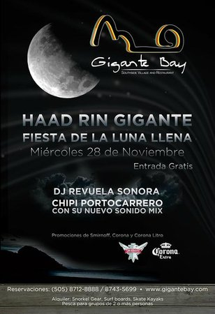 Pili's Kitchen - Camino del Gigante: HAAD RIN GIGANTE FULL MOON PARTY
