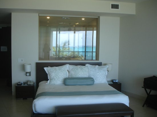 Gansevoort Turks + Caicos:                   That's the shower behind the bed and it has view of ocean, too!