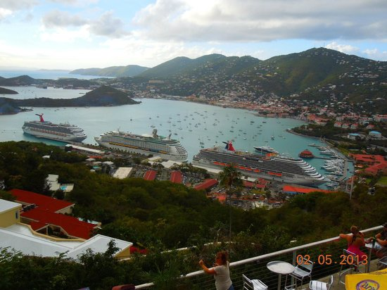 Skyride to Paradise Point:                   View of Charlotte Amalie from Paradise Point