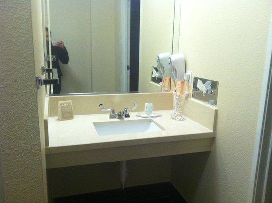 คอมฟอร์ทอินน์-ลอสแอนเจลิส/เวสท์ซันเซทบูเลอวาร์ด: Vanity section in the bathrooms