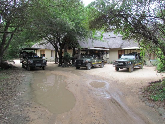 Jock Safari Lodge :                                     The front of Reception where the Safaris set off from