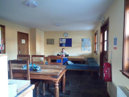 Corran Bunkhouse:                   Dining area of bunkhouse