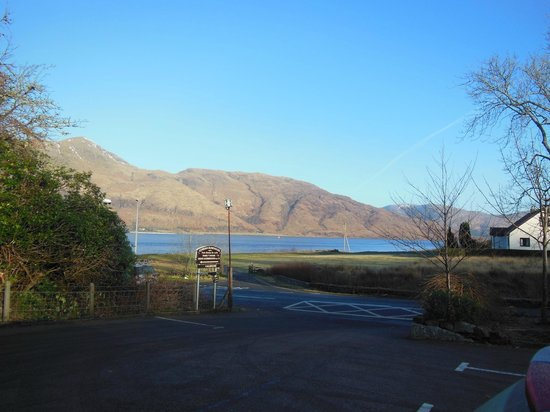 Corran Bunkhouse:                   View from the bunkhouse of the Lock