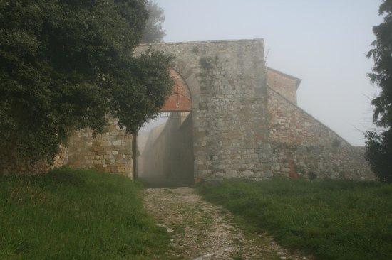 Montefollonico Centro Storico:                                                       Porta del Triano