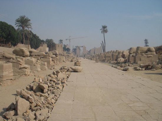 Avenue of Sphinxes - between Mut and Karnak temples