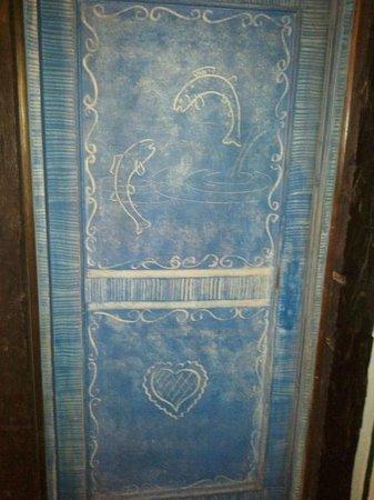 Berghotel Blaickner's Sonnalm:                                                       Each room door is hand-painted wood, with