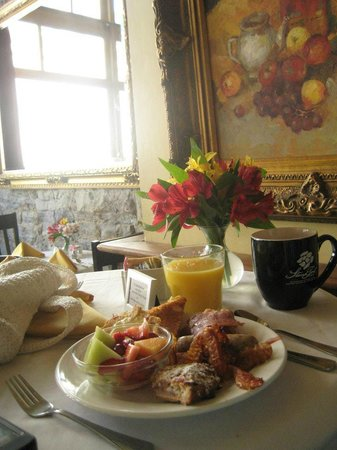 The Dwell Hotel:                   One of the two amazing breakfasts I had.