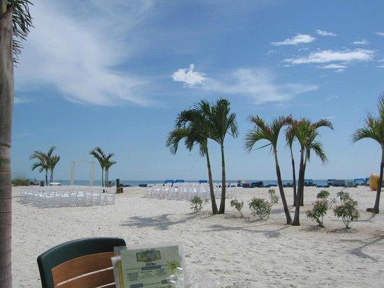 Rum Runners Bar & Grille at Sirata Beach Resort: View from Sirata resort beach