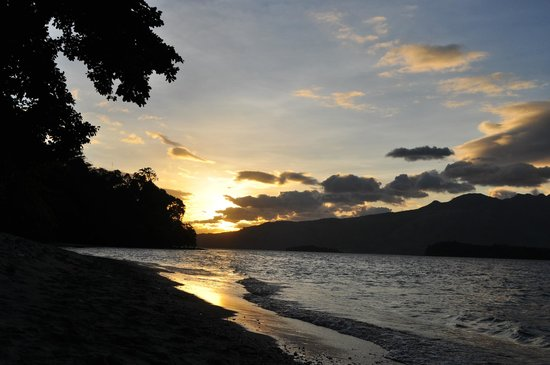 Camayan Beach Resort and Hotel:                   Sunset on the beach                 