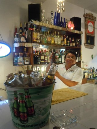 Tequilaville:                   Gilbert was an awesome bartender - and always smiling!