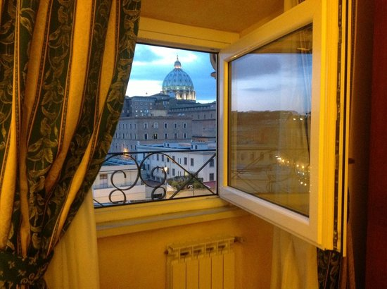 A View of Rome:                                                       View from our room