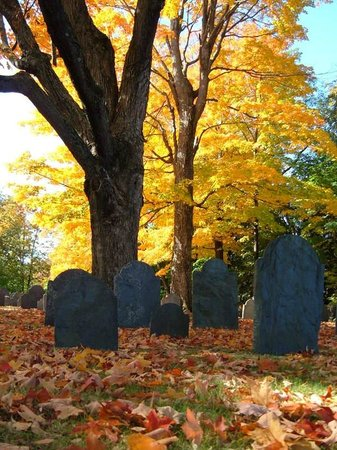 Hawthorne Inn: Old Burial Ground with Autumn Colors
