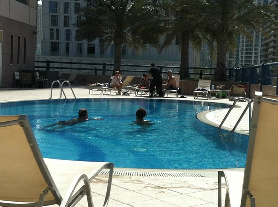 Dubai Marriott Harbour Hotel & Suites:                   Pool on 5th floor