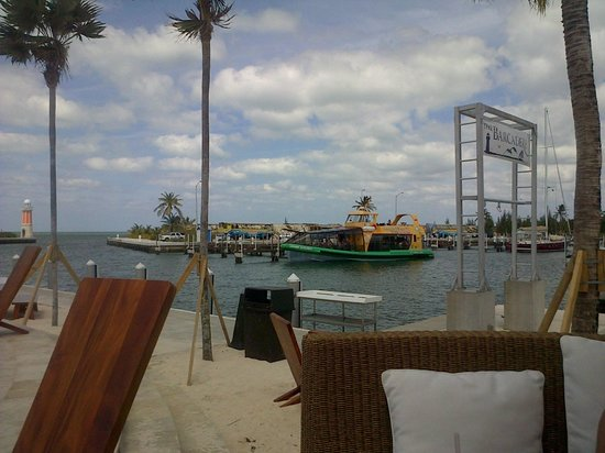 George Town Yacht Club:                   View from our table of the marina