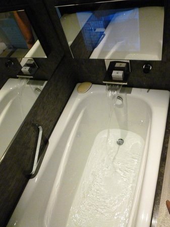 Hotel ICON: Teeny Tiny bath - but it has got a TV!