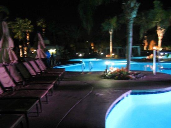 Westin Mission Hills Golf Resort & Spa:                   night time swimming