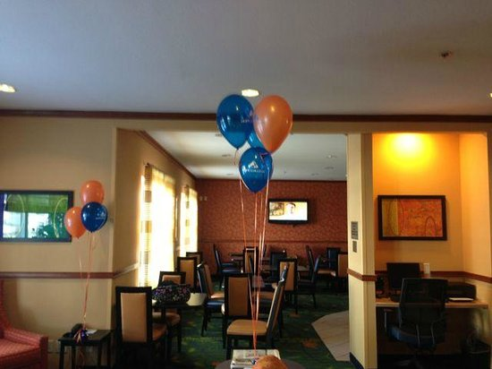 Fairfield Inn & Suites Beloit:                   Made Us Feel Welcome by Putting up Hope balloons