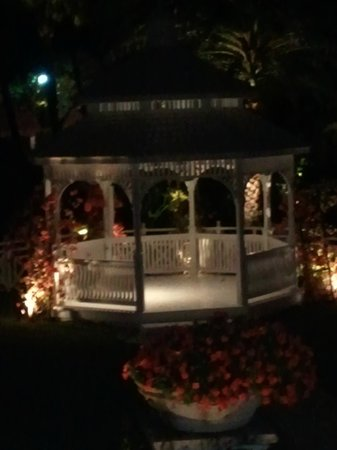 The Palms Hotel & Spa: The gazebo at night