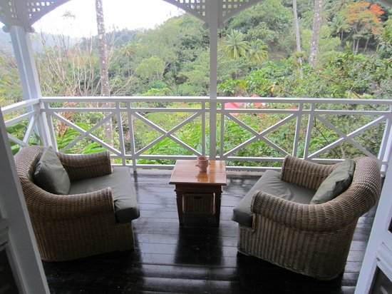 Fond Doux Plantation & Resort:                   Our deck