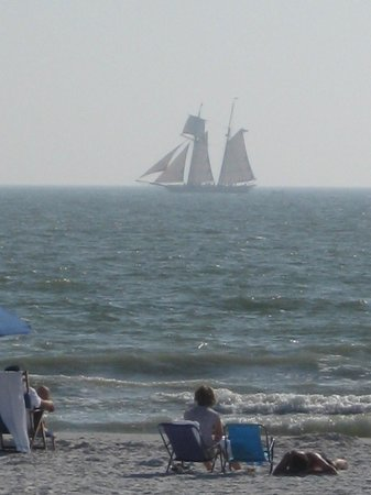 Best Western Plus Beach Resort:                   The tall ships and view