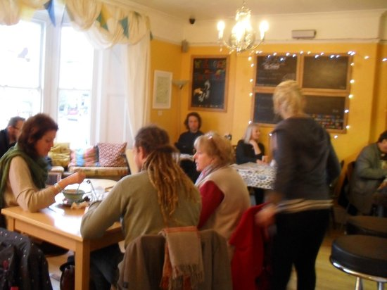 The Toucan Cafe:                   One of the two upstairs cafe rooms