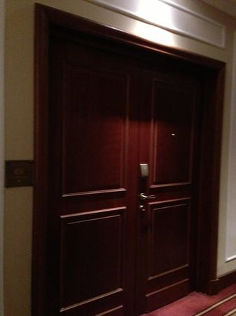 The Westin Excelsior, Rome: double doors always a good sign!