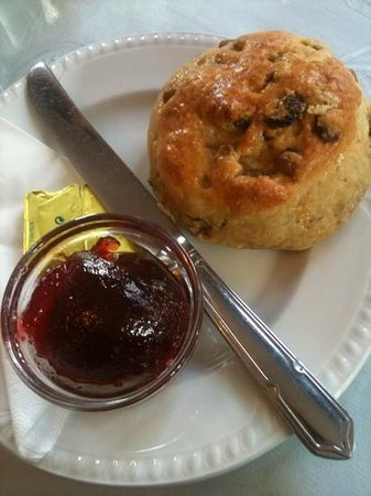 Watergate Tea Rooms:                                     homemade scone!