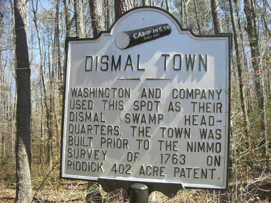 Great Dismal Swamp National Wildlife Refuge: Historical Sign