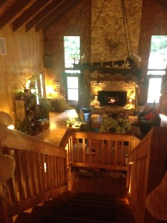 Manitou Lodge Bed and Breakfast:                   loft looking down