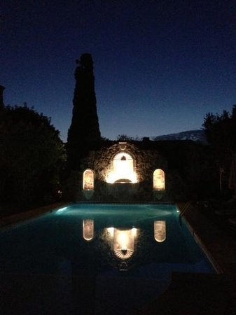 Belmond Casa de Sierra Nevada:                   pool at night