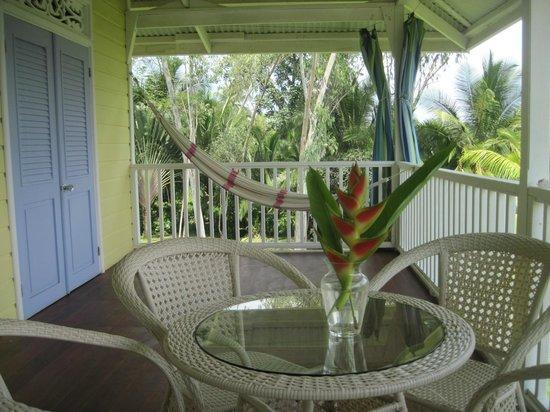 "Sand Dollar Beach Bed & Breakfast: Upstairs verandah for ""down"" time."