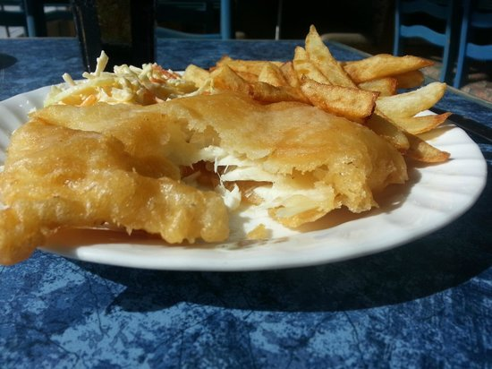 Kingsway Fish and Chips:                   Lunch Special - Halibut Dissected.